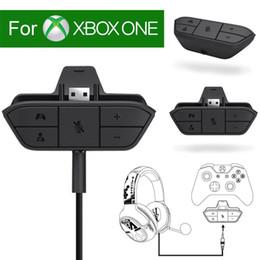 Großhandel Gamepad Stereo Headset Kopfhörer Audio Gaming Adapter Für Microsoft Für Xbox One Controller Spielkonsole Zubehör Autoladegerät