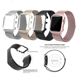 Gold case for apple watch online shopping - Epacket Milanese Magnetic Loop Strap With Frame Case Wrist Band Stainless Steel Watch Band Wristband For Apple Watch Series mm