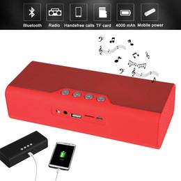 Portable mP3 Player docks online shopping - B23 Portable Bluetooth Speaker Radio Speakers Wireless Speaker Portable Audio MP3 Player With Power Bank mAh For Phone PC