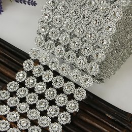 Bling Party Decorations Australia - Mesh Trim Bling Diamond Wrap 24 Rows Crystal drill 10 yard Crystal Ribbons Wedding Party Decoration event party DIY supplies
