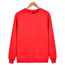 Pink Clothing Women UK - 2018 Aikooki Fashion Solid Hoodies men women Casual Harajuku Red Sweatshirt men women Solid Pullovers Pink Warm Hoody Clothes