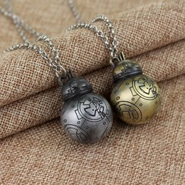 Discount cosplay chokers - BB-8 BB8 Necklace 3D Robot Cosplay Movie Metal Pendant Jewelry for Women Men Christmas gift Choker Necklace