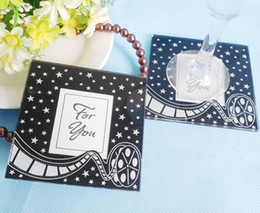 $enCountryForm.capitalKeyWord Australia - FEIS hotsale romantic For You 2PCS glass coaster tablemat baby shower wedding favor party companyInauguration & Anniversaries gifts