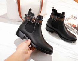 Woman genuine leather high heels boots online shopping - 2018 fashion genuine leather women shoes High Heel Martin boots Luxury brand designer shoes fashion Fw Shoes