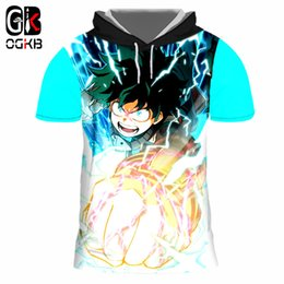 $enCountryForm.capitalKeyWord NZ - OGKB New Fashion Men's Hooded Tshirt Funny Print Boku No Hero Academia 3D Cap T-shirts Man Hiphop Short Sleeve Crewneck Pullover