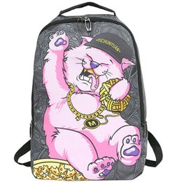 01d436600eb4 Kitten life backpack Rich cat style packsack Sprayground cool daypack  Street pack bag Canvas rucksack Spray ground day pack