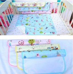 Water diapers online shopping - DHL SHIP Baby water proof diapers urine mat cover random color changable nice quality diapering mats