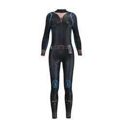 $enCountryForm.capitalKeyWord UK - Jumpsuit 3D Printing Black Sexy Women High Waist Long sleeves Tight Ladies Playsuit Bodysuit Party Outlet