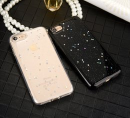 Wholesale Luxury Shinning Bling Glitter Love Heart Star Clear Silicone Soft TPU Case for iPhone X S Plus iPhone7 iPhone8