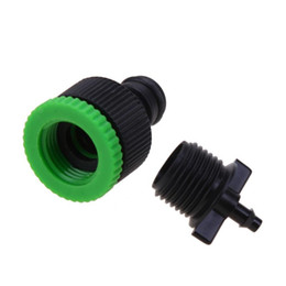 Discount micro water pipe - Garden 25m DIY Micro Drip Sprinkler Irrigation System Plant Automatic Watering Kits PVC Lateral Sprinkler Heads Base Thr