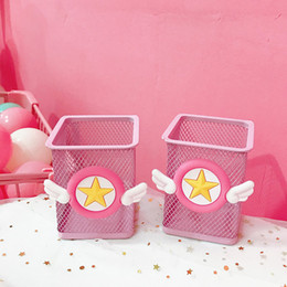 $enCountryForm.capitalKeyWord Australia - Pen Container School Supplies Wholsale Cute Pink Penholder Steel Material Cheap for School and Office Supplies Free Shipping