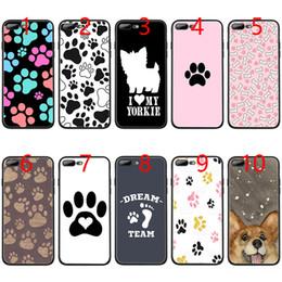 $enCountryForm.capitalKeyWord Australia - dog footprint Paw Soft Black TPU Phone Case for iPhone XS Max XR 6 6s 7 8 Plus 5 5s SE Cover