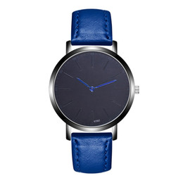 Chinese  Minimalist Watch Fashion Leather Men Quartz Analog Wrist Watch Business Casual Watches relogio masculino 2018 manufacturers