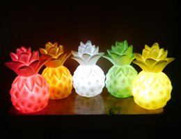 PineaPPle table lamPs online shopping - Creative Atmosphere Led color Changeable Pineapple Night Lights Lamp Kids Flash Lighting Toys Mini Table Lamps