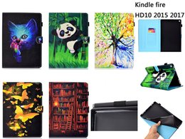 $enCountryForm.capitalKeyWord Australia - Cartoon Panda Fox Wallet Leather Case For Amazon Kindle Paperwhite 1 2 3 Fire HD7 2015 HD8 2016 2017 HD10 Butterfly Clover Tree Cover 30pcs
