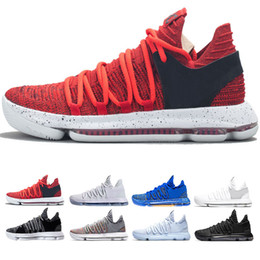 pretty nice 807fb a1a66 New KD 10 Multi-Color Oreo Numbers BHM Igloo Men Basketball Shoes KD 10 X  Elite Mid Kevin Durant Sport Sneakers size 40-46