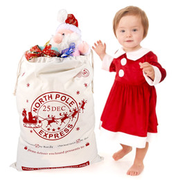 Christmas Gift Holders 50*70cm Canvas Gift Bags for 2018 New Year Large Santa Sack Drawstring Bag Event Party Supplies