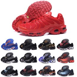super cute c71e3 50c55 2018 nouvelles chaussures de course hommes femmes TN chaussures tns plus air  mode augmentation de la ventilation de luxe formateurs occasionnels rouge  bleu ...