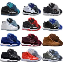 Discount yellow canvas shoes women - 11 Prom Night XI Cap and Gown 11s Gym Red PRM Heiress Midnight Navy women Men Basketball Shoes Bred Space Jam Sport Snea