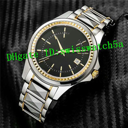 Discount titanium swiss men watch - New Luxury Swiss 821A Automatic Movement Sapphire Crystal Yellow Gold Bezel Titanium Alloy Collocation 316L Stainless St