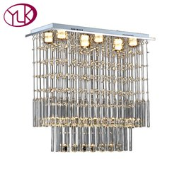 China Youlaike Modern Crystal Chandelier Dining Room Rectangle Home Decoration Lamps LED Lustres De Cristal Luxury Kitchen Lighting cheap cristal lamps suppliers