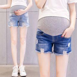 Leggings Pregnant Australia - Pregnant women's jeans shorts three-point wear pregnant women pants leggings thin section women spring and summer cloth