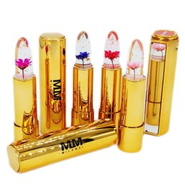 Mixing Red Purple Lipstick NZ - Hot Milemei 4Colors Lipstick Magic Color Temperature Change 100% Original Beautiful Jelly Flower Lipstick Matte batom Hot Sale