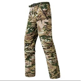 camouflaged trousers UK - High quality 2020Fashion TAD tactical quick-drying pants military enthusiasts camouflage pants removable Zipper pocket trousers