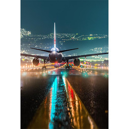 $enCountryForm.capitalKeyWord NZ - Airport Night Scene Big Airplane Photography Backdrops Sparkling Pilot Light Bokeh Kids Children Wedding Photo Shoot Backgrounds for Studio