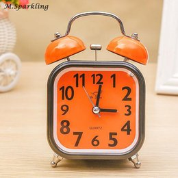 $enCountryForm.capitalKeyWord NZ - Mechanical Alarm Clock Round Metal Table Clock Retro Double Bell Desk Light Design Alarms Candy Color