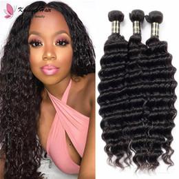 $enCountryForm.capitalKeyWord Australia - 8-30 inch Brazilian Indian Virgin Remy Human Hair Deep Wave Natural Color 1B Black Original Hair Bundle Weft for African Female