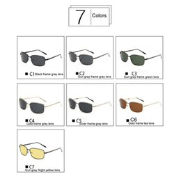wholesale hd night vision glasses NZ - UV400 Colors 2018 Sunglasses Glasses Outdoor Brand Sunglasses Night Glass Metal HD Sun Vintage Men Polarized Drive Vision More Retro Fo Npjx