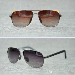 0b2354b5da1 Brand Designer-Maui Jim Polarized Sunglasses 327 Breakwall sunglasses  Rimless lens men women TR sunglasses driving Aviator MJ SPROT withcase