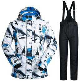 Discount snowboard ski jackets - 2018 New Winter Ski Suit Men Outdoor Thermal Waterproof Windproof Snowboard Jackets And Pants Climbing Snow Skiing Cloth