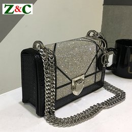 ba705104ff 2018 New Diamond Fashion Leather Shoulder Messenger Clutches Bag Casual  Chain High Quality Luxury Handbags Women Bags Designer discount coach bags