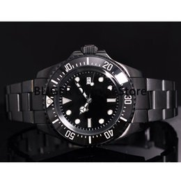 coating pvd 2020 - Classic 42mm Black Sterile Dial Black PVD Coated Case Luminous Marks Ceramic Rotating Bezel Automatic Movement Men'
