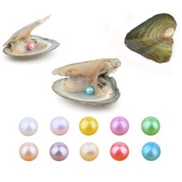 packages pearl beads NZ - 2018 Round Oyster Pearl 6-7mm new 27 Mix color big Fresh water Gift DIY Natural Pearl Loose beads Decorations Vacuum Packaging wholesale