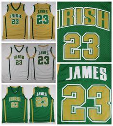 7fe2aa3b8 Irish Gold NZ - Mens LeBron James St. Vincent Mary High School Irish  Jerseys Basketball