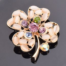 wholesale rhinestone brooches Australia - Wedding Brand Brooches Jewelry For Women New Fashion Crystal Rhinestone Leaf Brooch Pin Wedding Corsage Flowers Wholesale