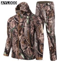 2038e3660a4 Army Camouflage Men Jacket Coat Military Tactical Jacket Windbreaker  Raincoat Hunt ClothesWinter Waterproof Jacket+uniform pants