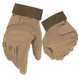 Chinese  New Black Hawk Tactical Full Finger Gloves  Army Paintball  Shooting Anti-Skid Gear Rubber Knuckle manufacturers