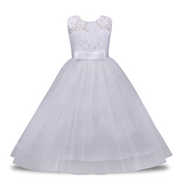 tutus for girls Australia - Flower Girl Lace Princess Dress Kids Party Pageant Wedding Bridesmaid Tutu Dress Kids Dresses For Girl Clothes 4-14Y
