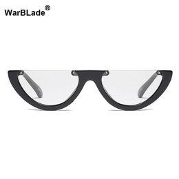 8a927df2be 2018 NEW Fashion Women Glasses Frame Men Eyeglasses Frame Vintage Half Clear  Lens Glasses Optical Spectacle Cat Eye