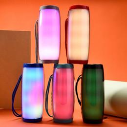 Loudspeakers Tablet Australia - Colorful LED Light Speaker Bluetooth Wireless Subwoofer Stereo Hifi Speakers FM Raido Multicolor Lamp Loudspeaker for Computer Tablet PC