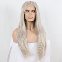 $enCountryForm.capitalKeyWord NZ - Lace Front Wigs picture color mixed blonde silky straight synthetic lace front wigs roots natural blonde glueless heat resistant fiber hair