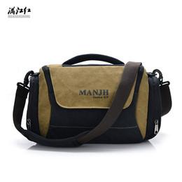 Camera Brands Australia - Multi-Function Fashion Digital SLR Camera Bag Brand Casual Camera Bag Canvas Men Single Shoulder Crossbody B073