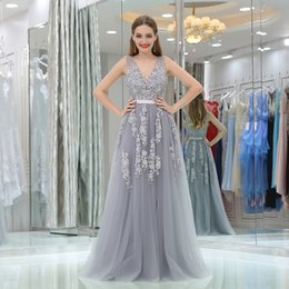 4fdba0c57a8 2018 Long Evening Dresses With Lace Appliques Printed Floral Formal Prom  Dress For Women Real Photo Robe De Soiree B00809