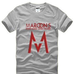 band t s NZ - Fashion Rock Band maroon5 Printed T Shirts Men Short Sleeve O Neck Cotton Men's T Shirt Summer Rock Festival Male Top Tee S-3XL