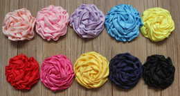 "$enCountryForm.capitalKeyWord NZ - 40pcs 3"" DIY Satin Ruffled Rolled Rose Puffy Hair Boutique Clip Flowers,Fabric Clip Flowers in Girls Hair Accessories"