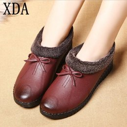 old snow boots NZ - wholesale Mother shoes little cotton soft bottom anti-slip middle-aged old women cotton ankle boot big yards 41 Grandma Snow Boots A92